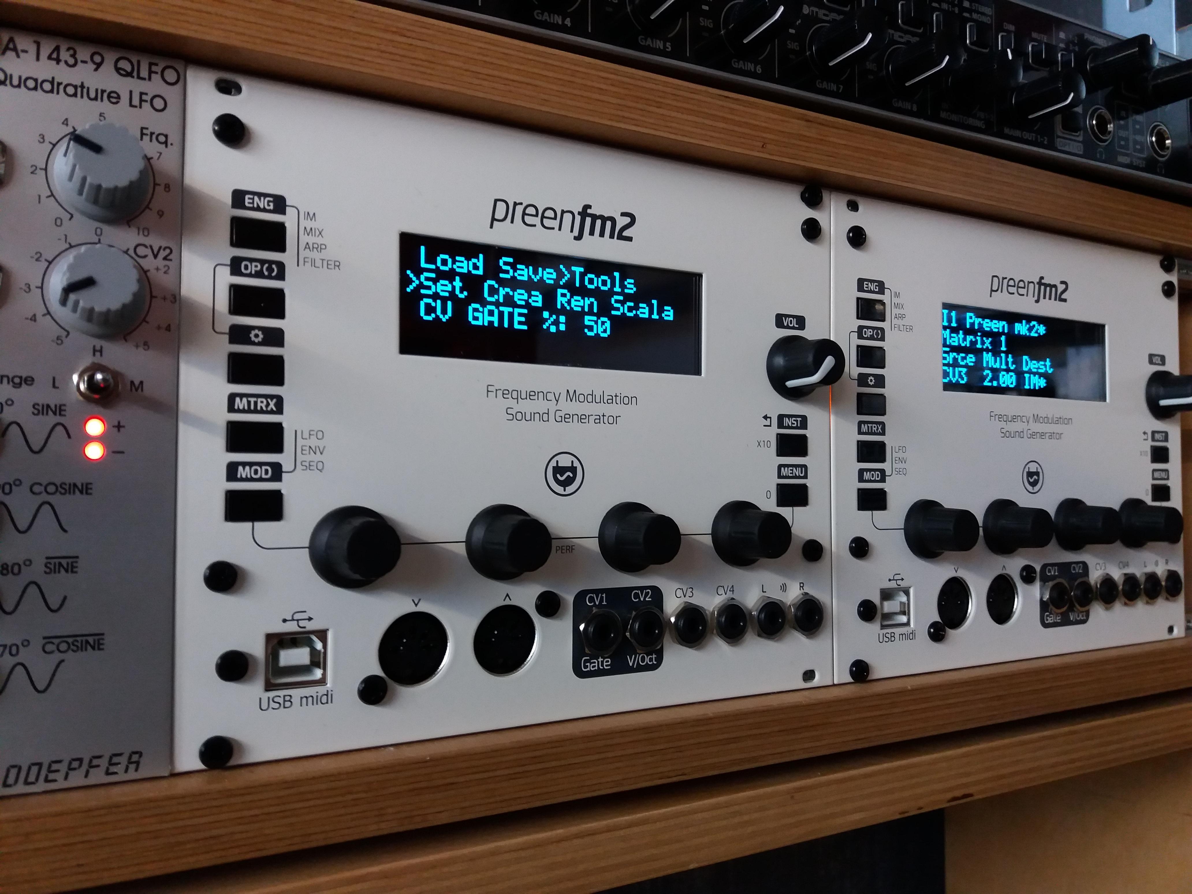 PreenFM Eurorack module Full DIY kit
